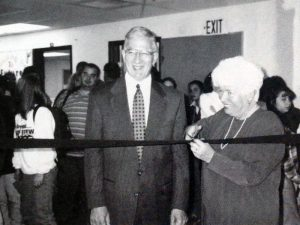 This photo shows the founders of the school during the ribbon cutting ceremony in 1997