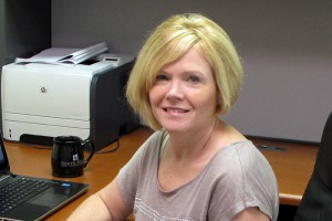 This photo shows Anne Falk, Financial Aid Director