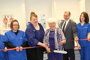 Co-founder of South Hills at the ribbon cutting ceremony at the Lewistown campus