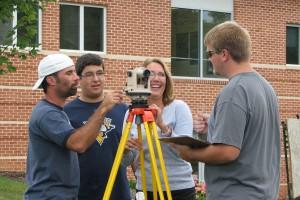 Engineering Technology Students Surveying