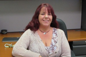 This photo shows Michele Spicer, Systems Administrator