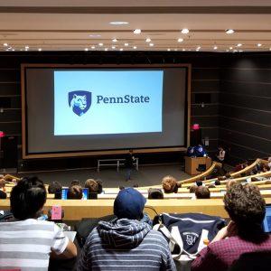 Auditorium at the HackPSU event
