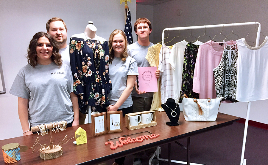 Lewistown Business Administration Management & Marketing Students with final project