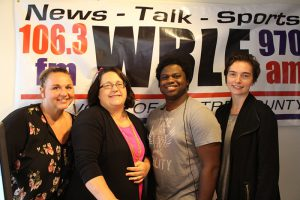 South Hills Phi Beta Lambda students at WBLF radio station