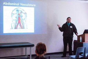 Male speaker at the Sonographer Symposium