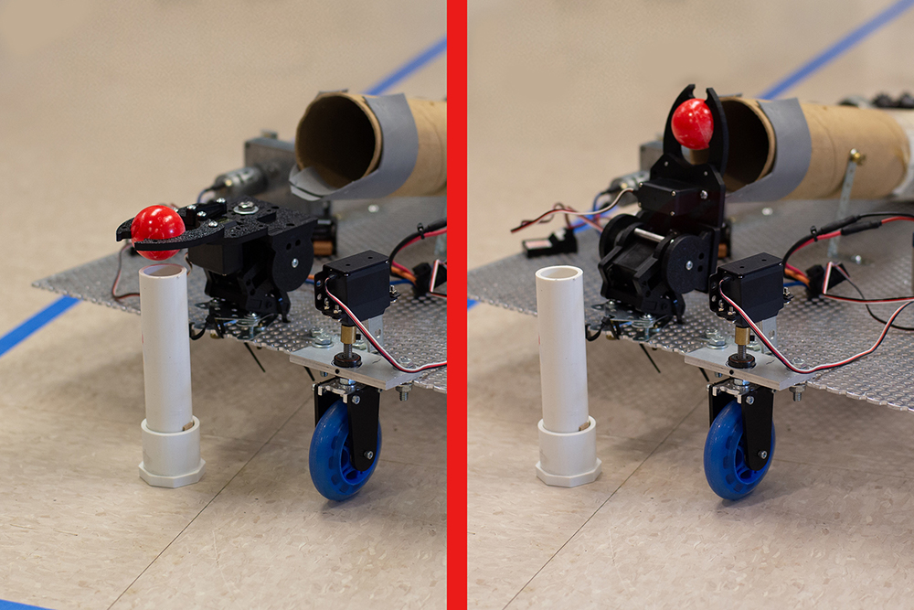 This photo shows a servo-controlled gripper build by Engineering Technology students