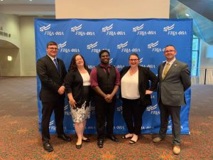 South Hills PBL competitors, left to right: Jordan Causer, Jamey Shreckengast, Bryant Moses, Jenie Engle, and Brandon Doerr