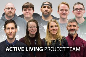 This photo shows the individuals involved in the Active Living project team