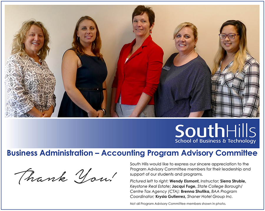 State College Business Administration Accounting Program Advisory Committee