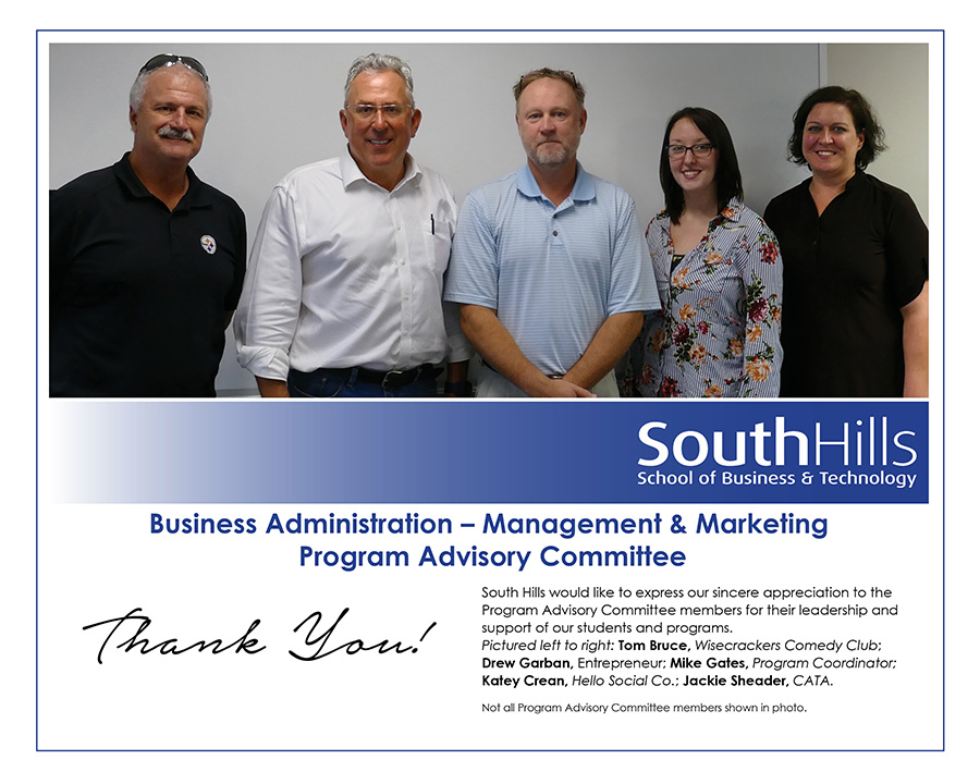 State College Business Administration Management & Marketing Program Advisory Committee