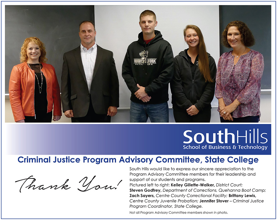 State College Criminal Justice Program Advisory Committee