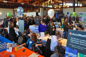 An overhead view of the South Hills 2019 Network Career Fair