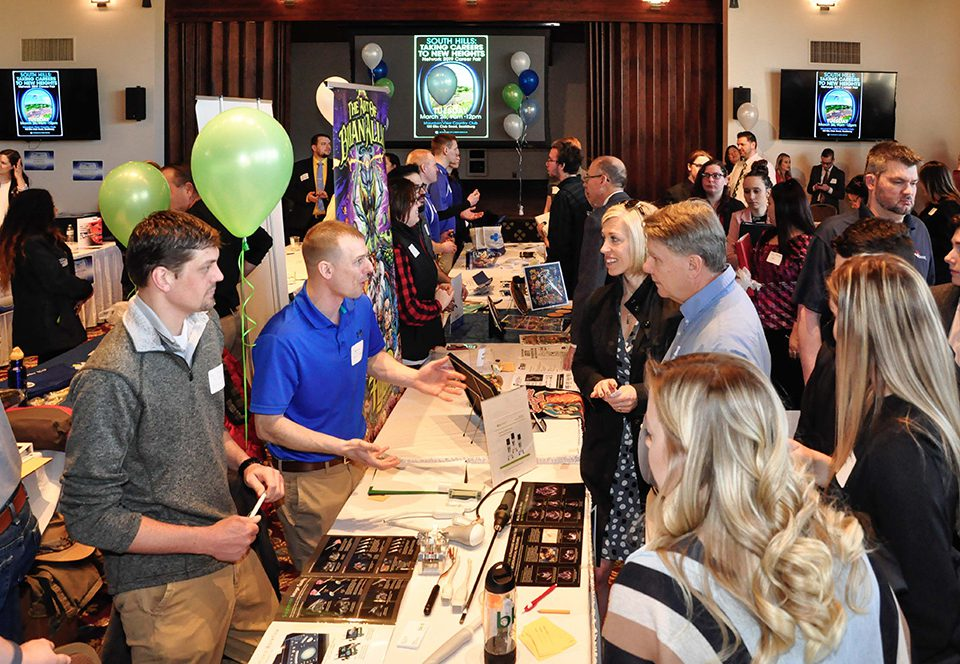 Over 80 employers participated in the 2019 Network Career Fair, many of them represented by South Hills alumni.