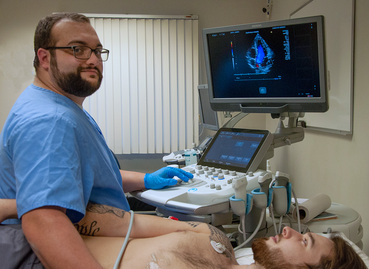 Diagnostic Medical Sonography Professional Plus student Joe Vasta