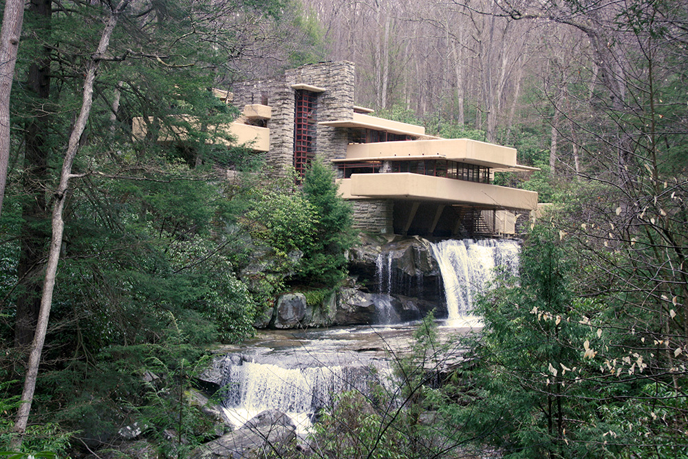 This photo shows the Fallingwater House