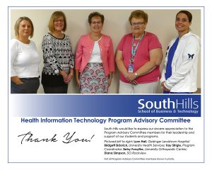 State College Health Information Technology Program Advisory Committee