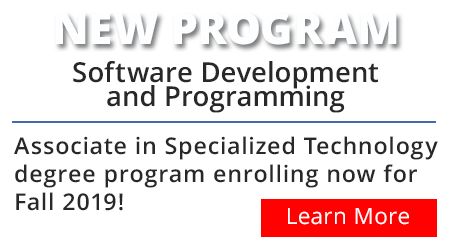 Click here to learn more about the new Software Development and Programming specialized associate degree program.