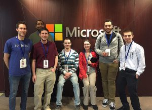 Left to Right – IT Instructor Guido Santella with students Marceal Moultrie, Brandon Hazenstab, Jason Schopp, Shedaisy King, Omar Brown, and Cameron Buynack.