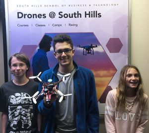 Students of the Discover Drones camp
