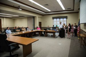 Business Administration Management & Marketing Students presenting to the Blair County Planning Commission