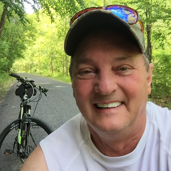 Dave Andrus on a bike ride