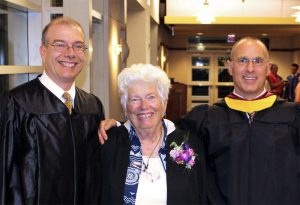 South Hills President, Founder, and Director at Graduation ceremony
