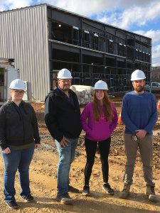 South Hills students at a Sports Complex Construction Site