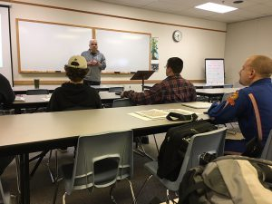 Individuals in the classroom for the Pro-Pilot Training Class