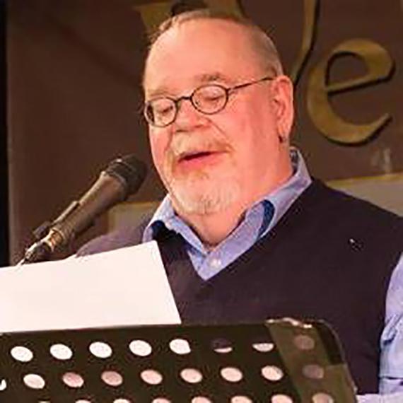 Jim Colbert reading poetry