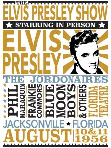 Elvis Presley Hatch Show-style Poster
