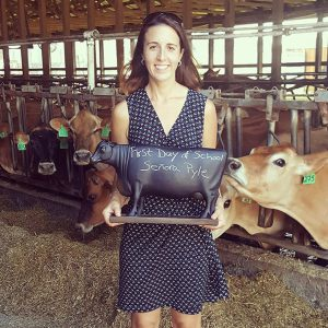 Katie Dotterer-Pyle and her cows