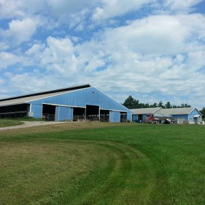 The dairy farm belonging to Katie Dotterer-Pyle and her husband