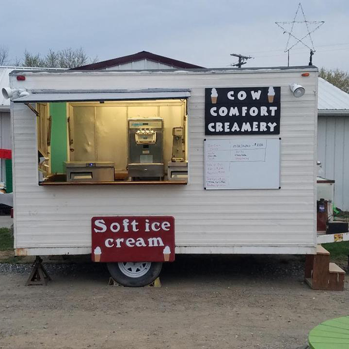 The ice cream shop belonging to Katie Dotterer-Pyle and her husband