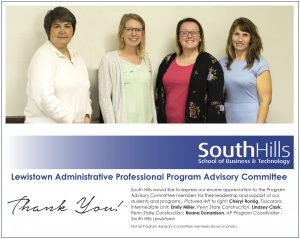 Lewistown's Administrative Professional Program Advisory Committee