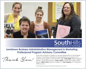 Lewistown's Business Administration–Management & Marketing Program Advisory Committee