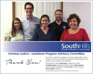 Lewistown's Criminal Justice Program Advisory Committee