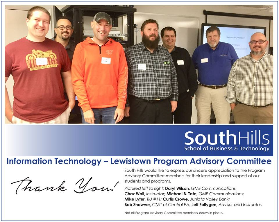 Lewistown's Information Technology Program Advisory Committee