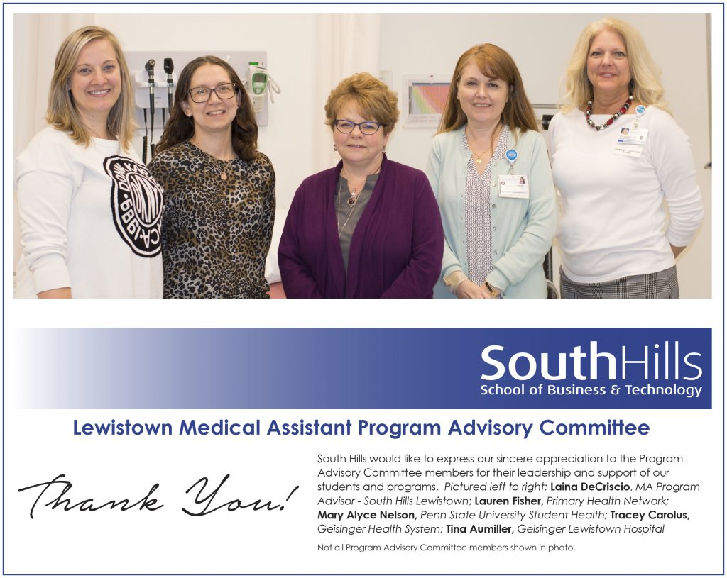 Lewistown's Medical Assistant Program Advisory Committee