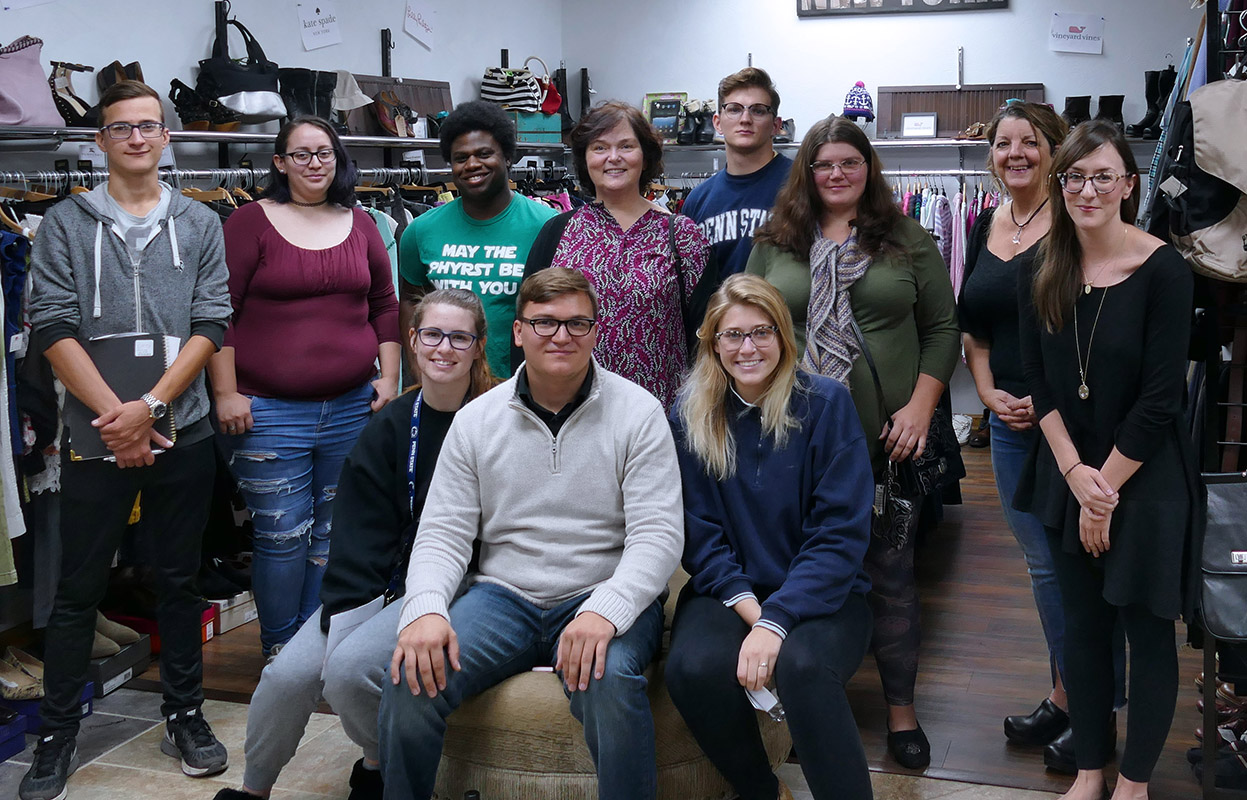Business Administration Management & Marketing students at local boutique