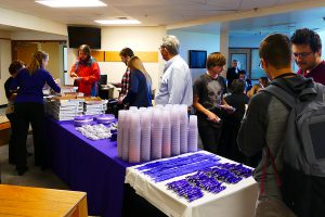 Pizza party at the State College main campus with Grand Canyon University