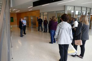 Health Information Technology students touring Geisinger Gray's Woods