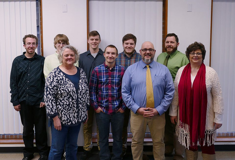 Members of the Lewistown Campus Club IT pose with Shelter Service Inc. staff members.