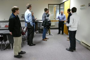 Link Computer Corp.'s Bill Reintgen, AMBUCS Member, gave the students a tour of the facility.