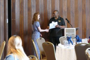 Criminal Justice student, Annie Lucas and Owner of Keystone Investigation & Security Specialists, LLC, Bernard Chatman