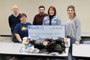 South Hills Veterans Club presents donation check