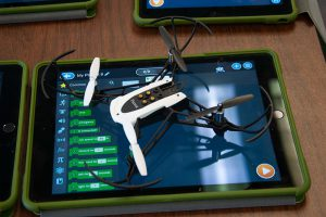One of the drones PAECT/SHSBT drone workshop participants were able to try out.