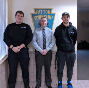 Criminial Justice Students delivering gift-bags to Patton Township Police Officers on National Law Enforcement Appreciation Day.