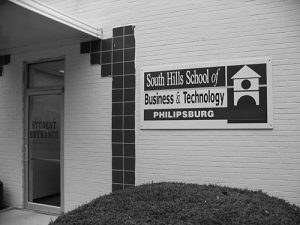 This photo shows the South Hills Philipsburg Building