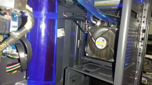 This photo shows the PC Water Cooling system built by an Information Technology student