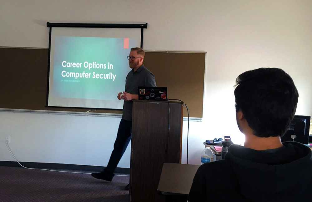 Hosting Services Engineering and Security Manager at Tessitura Network, Ryan McCracken, talked about computer security careers.